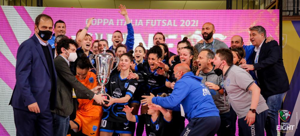 Città di Falconara vincente Coppa Italia di Serie A