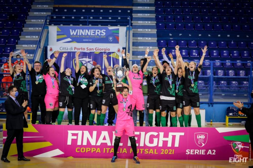 Polisportiva Five Bitonto vincente Coppa Italia di Serie A2