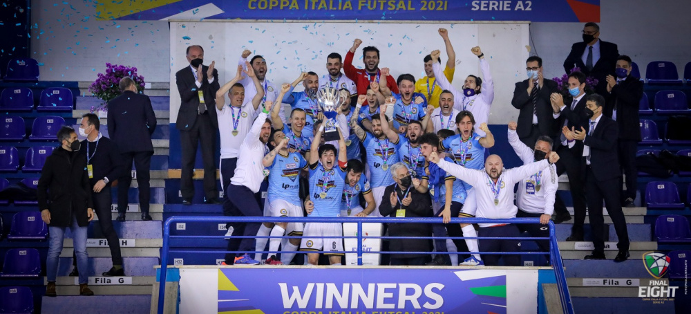 Napoli C5 vincente Coppa Italia di Serie A2