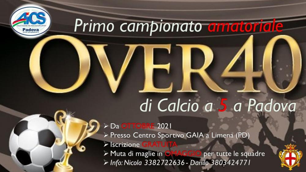 PRIMO CAMPIONATO OVER 40 di Calcio a 5