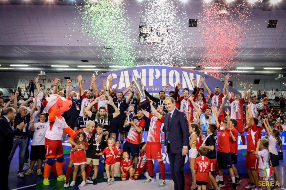 Italservice Pesaro Campione d'Italia 2020/21 - il quarto titolo consecutivo - il secondo scudetto della sua storia